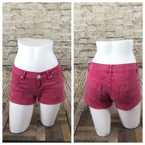 Pink acid wash shorts size 1